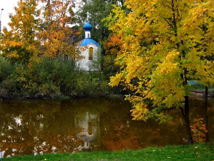 Санкт-Петербург Стрельна Природа Реки/Озера, река, парк.