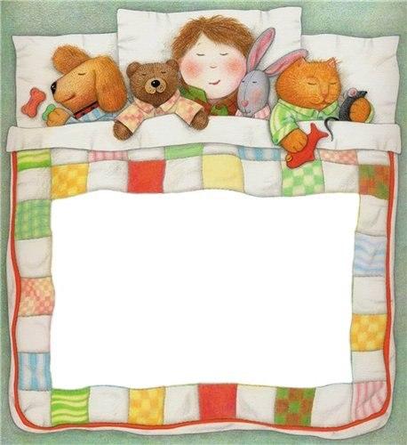 Спят усталые игрушки,книжки спят. . Одеяла и подушки ждут ребят. Tu