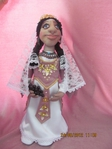 Игрушка Шитьё Моя армяночка Армине Бисер Капрон Кружево Ткань фото 1.