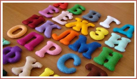 Мягкие буквы алфавита своими руками