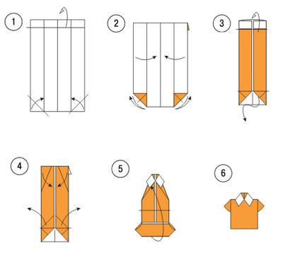 Бумажный галстук - Оригами