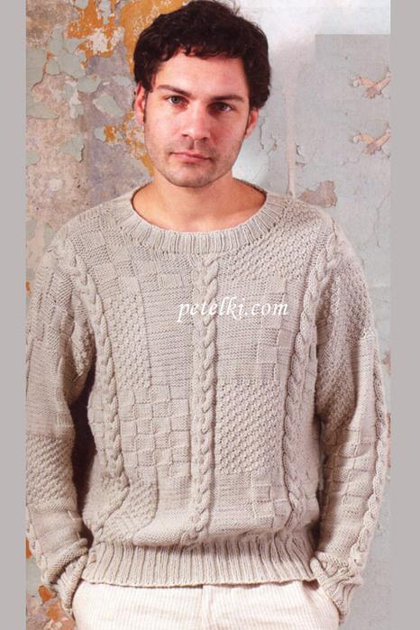 Вязание на спицах рисунки для мужских свитеров
