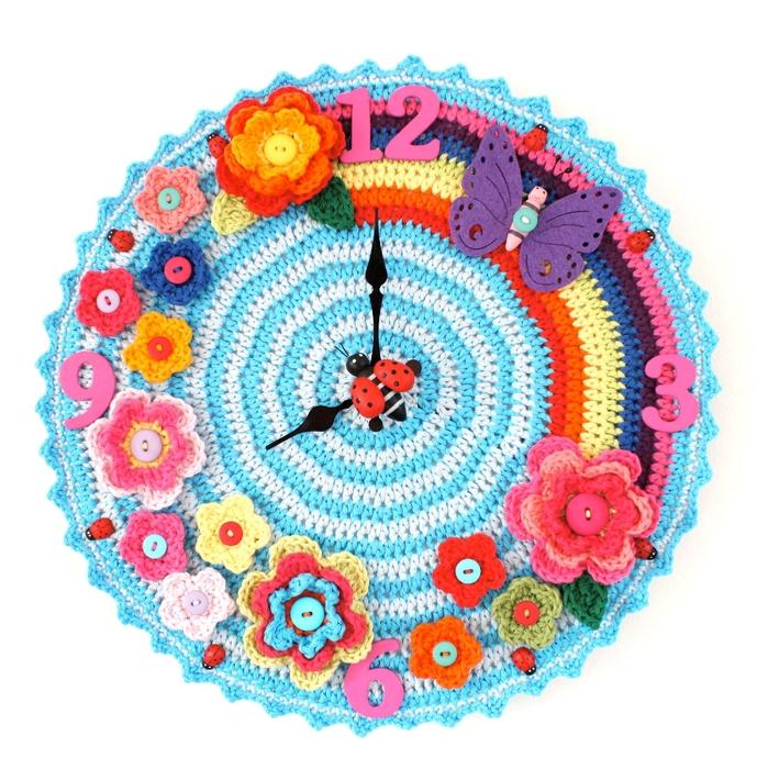 Вязание крючок часы