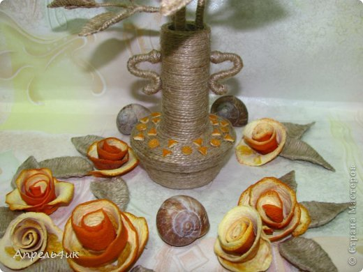 букет из шпагата и апельсина (3) (520x390, 44Kb)