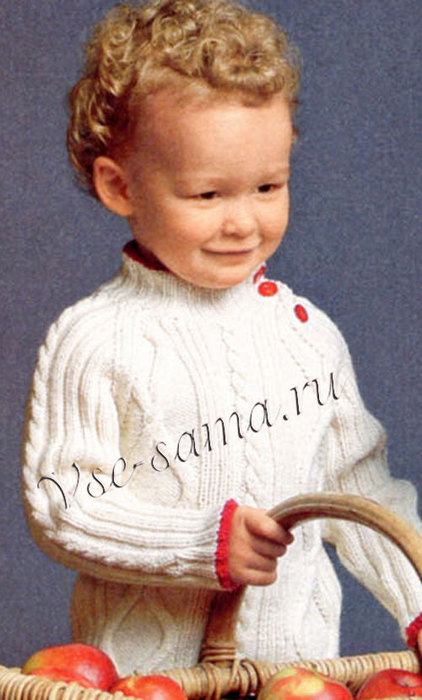 Irlandskii-pulover-s-krasnymi-plankami-ris (422x700, 75Kb)