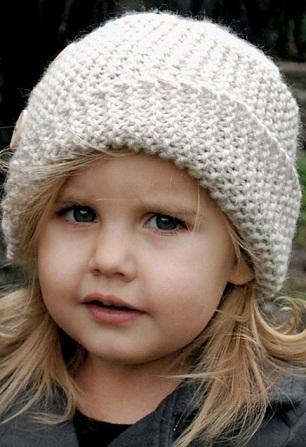 Детская шапочка из толстой