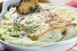 Рыба с овощами, запеченная в молочном соусе (250x166, 15Kb)