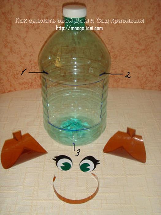 Как сделать обезьянку из пластиковой бутылки своими руками