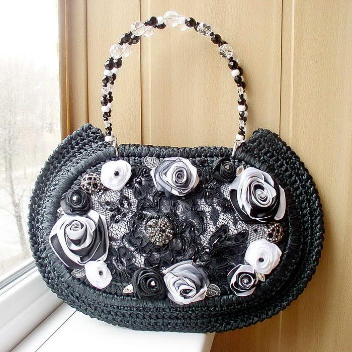Декор бусинами сумки своими руками мастер класс 88