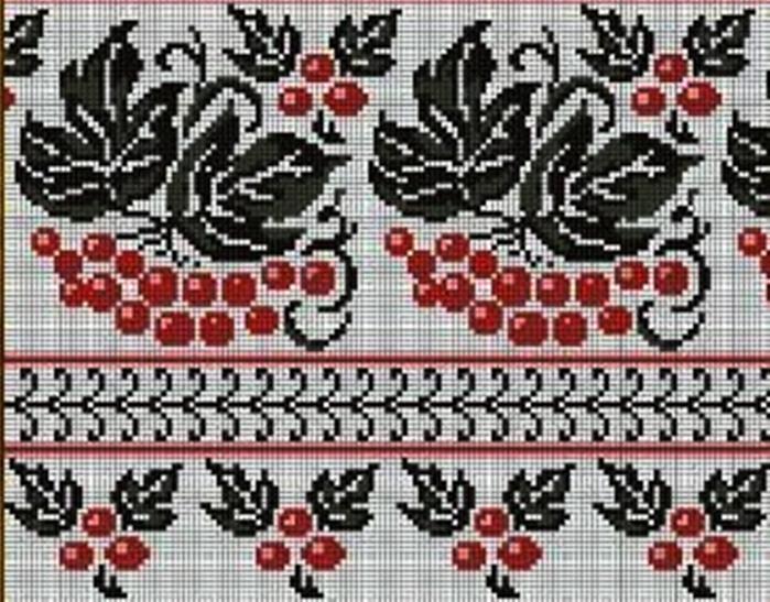 Красное и черное в вышивке 738