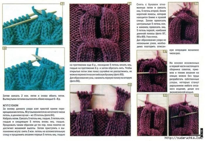 Редкие способы вязания спицами