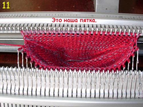 Круговое вязание на машинке сильвер