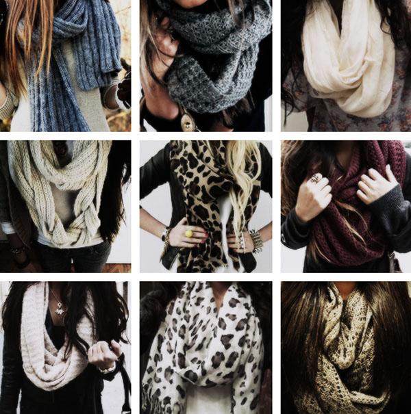 завязывать красиво шарф