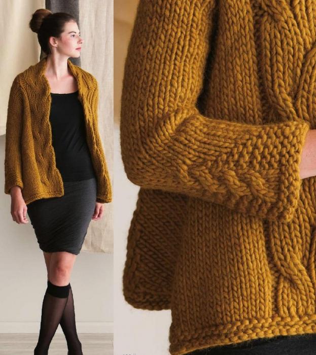 Вязание на спицах толстых свитеров 404