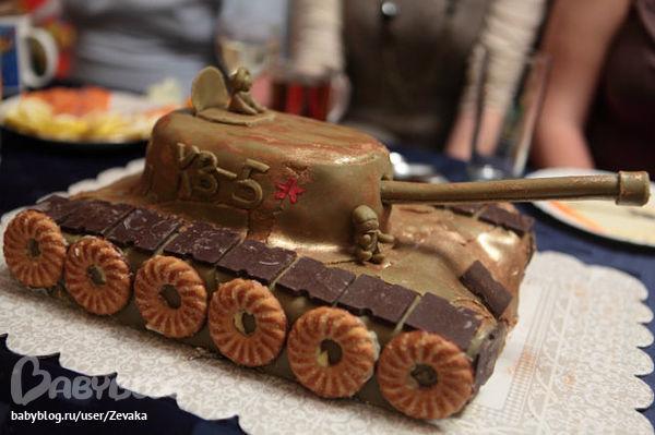 Торт в форме танка своими руками с фото пошаговое