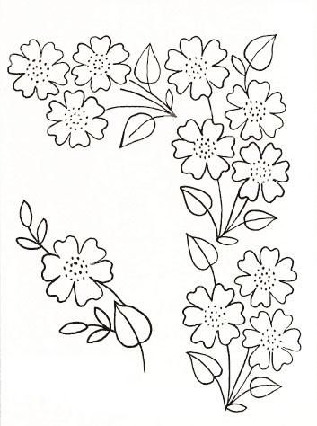 Вышивка гладью цветов со