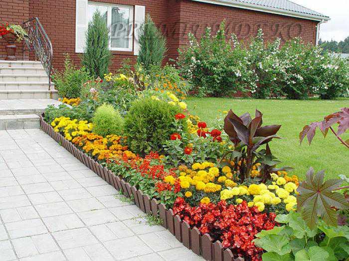 Используя растения разной высоты, можно создать в цветнике 3-4 яруса.