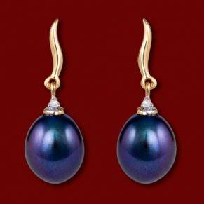 BLACK PEARL.  earrings 1jpg (291x291, 8Kb)