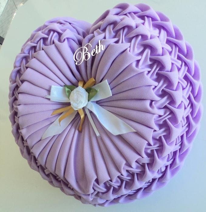 Выкройки на интересные подушки сердце - Выкройка