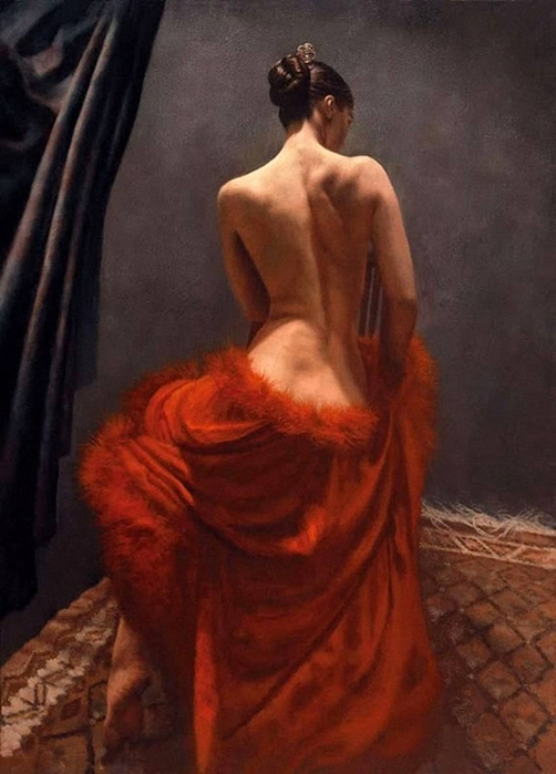 Hamish Blakely - British Figurative painter - Flamenco Dancer - Tutt'Art@ (21) - ����� (692x800, 199Kb)