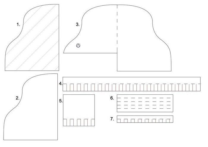 Рояля из бумаги своими руками 137