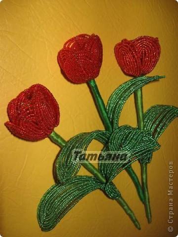 Очень красивый мастер-класс букета цветов тюльпанов из бисера.  Этот видео урок со схемами, фото и пошаговой...