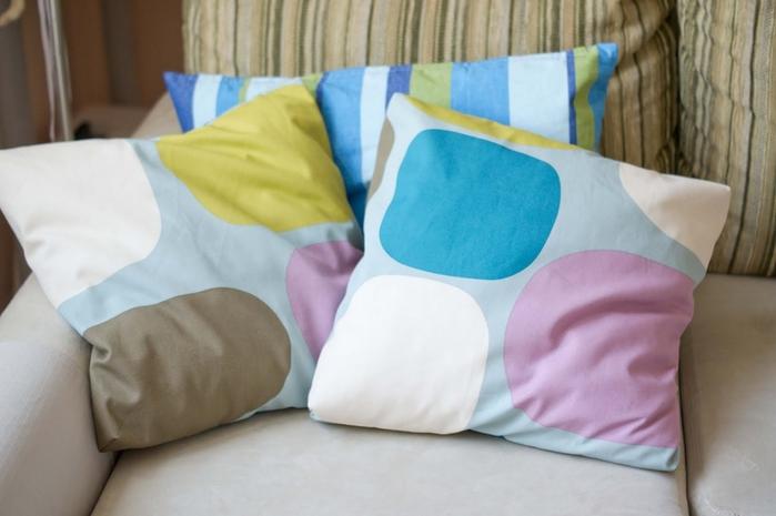 Как сшить подушку простую