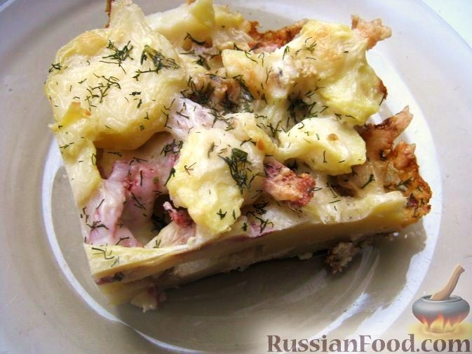 Запеканка из картофеля с колбасой рецепт