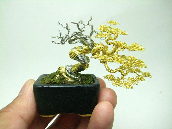 Кэн То. Миниатюрные проволочные деревья бонсай