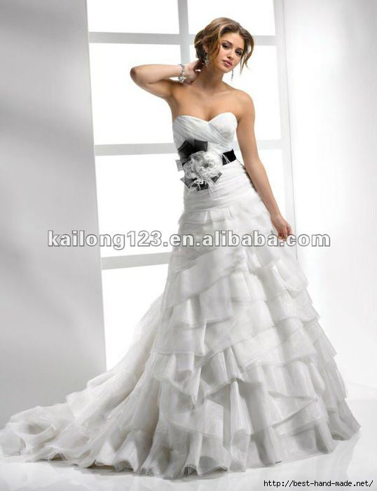 Modern-Sweetheart-Strapless-A-line-Chapel-Train-White-Tiered-Ruffle-Flower-Sash-Belt-Organza-Wedding-Dress (538x700, 102Kb)