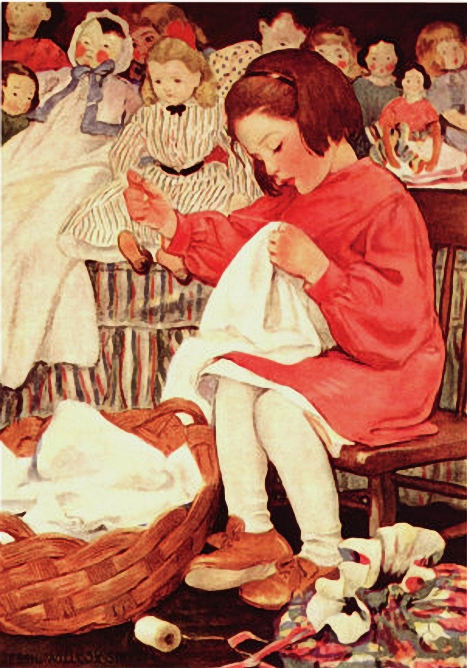 Little Seamstress by Jessie Wilcox Smith (467x668, 299Kb)