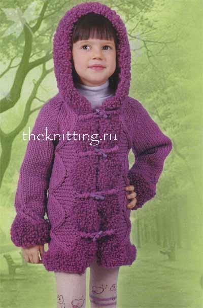 вязаные пальто для подростков.