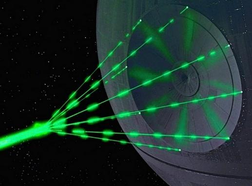 лазерной пушки произвести