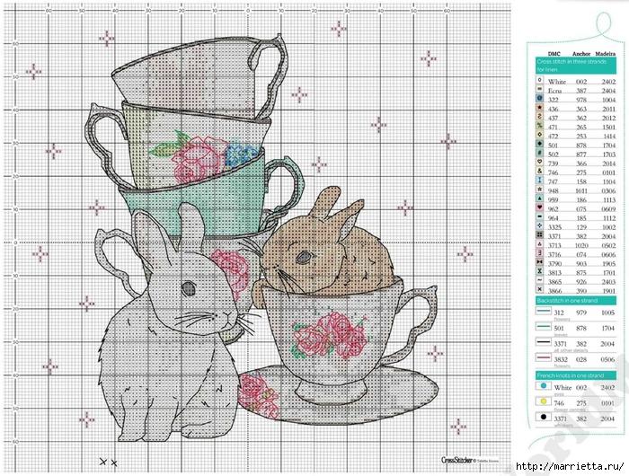 Схемы вышивки на marrietta.ru.  Дорогие любительницы вышивки) Представляю вам небольшую подборку вышивки со схемами.