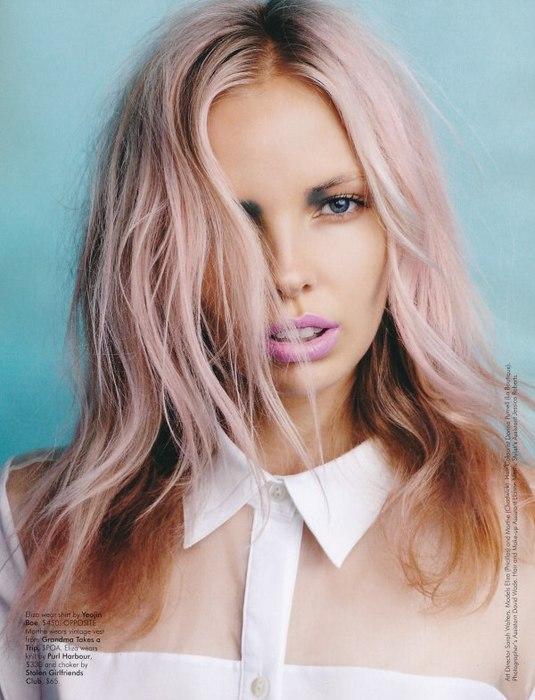 Розовые волосы фото на концах
