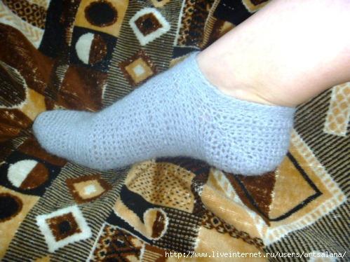 Как связать крючком носки или следки