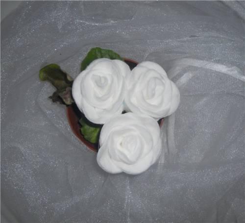 Ватные диски поделки розы из