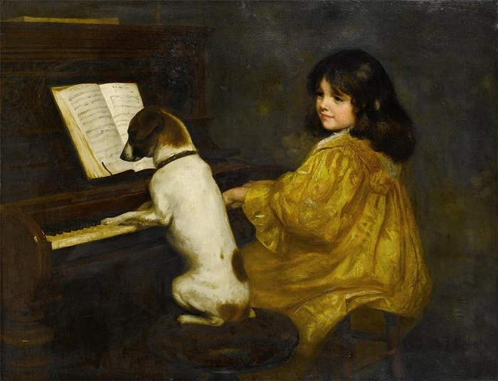 Mariquita Jenny Moberley (1855–1937) The duet (700x535, 251Kb)