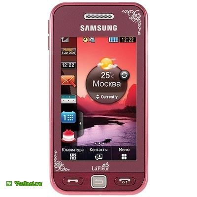Телефон мобильный (сотовый) моноблок Samsung Star S5230 красный (400x400, 31Kb)