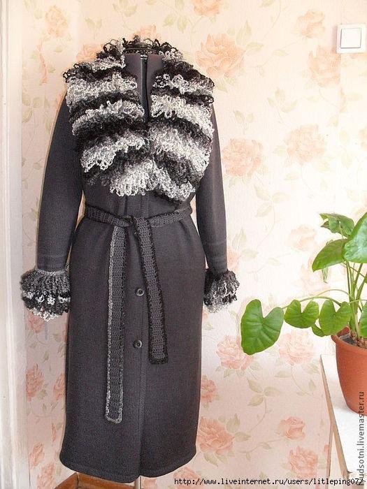 Какие нитки лучше использовать для вязания пальто