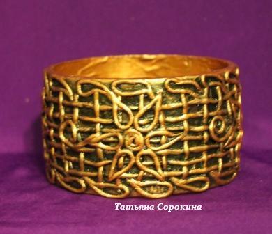 Плетеный медный браслет 0 (390x336, 30Kb)