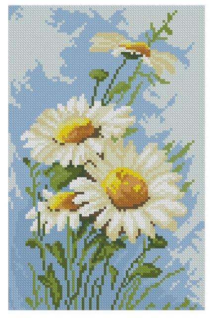 Вышивание крестиком картинки цветы 4