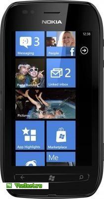 Коммуникатор моноблок NOKIA Lumia 710 чёрный (210x400, 22Kb)