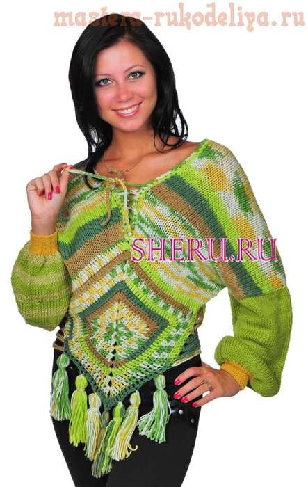 Схема вязания: Пуловер