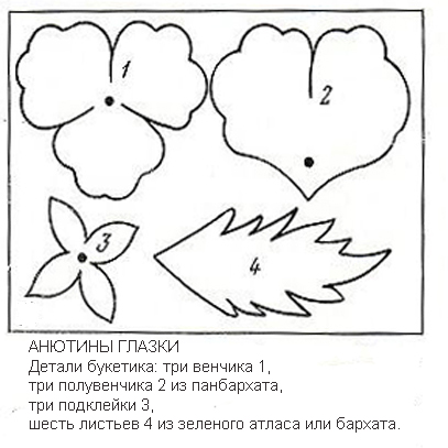 Выкройки цветов из кожи своими руками