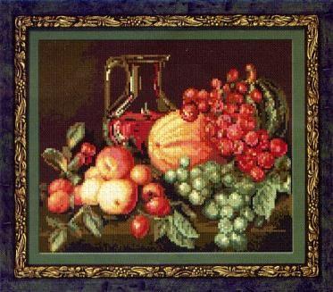 Натюрморт вышивка крестом риолис