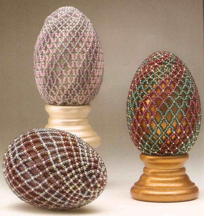 Бисероплетение схемы оплетения яиц бисером - Делаем фенечки своими руками.