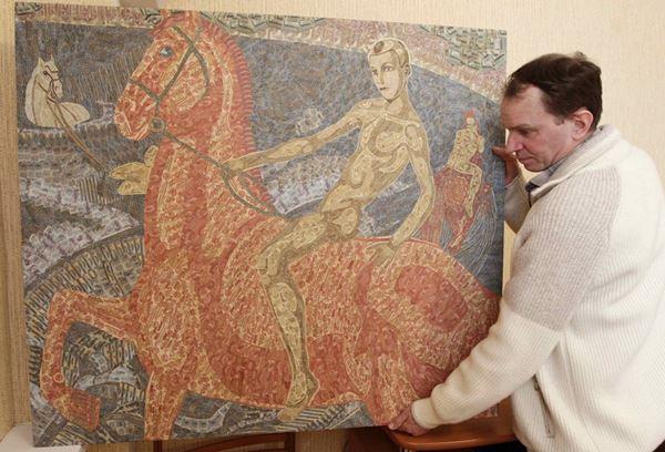 Игорь Аринич. Коллаж из трех тысяч советских банкнот