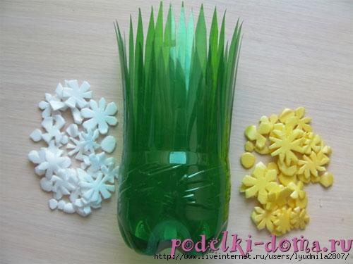 Цветы из бутылок пластиковых своими руками с фото