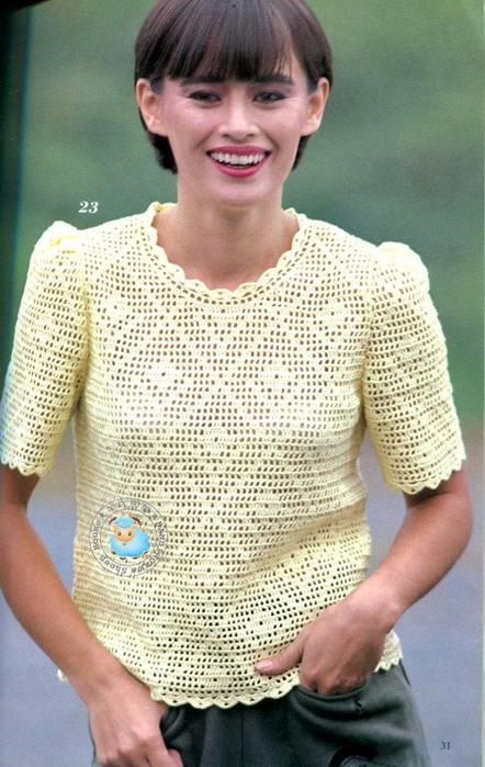 Филейные блузки